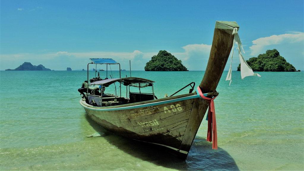 Nopparat tara beach Ao Nang Krabi thailand by scooter rental krabi