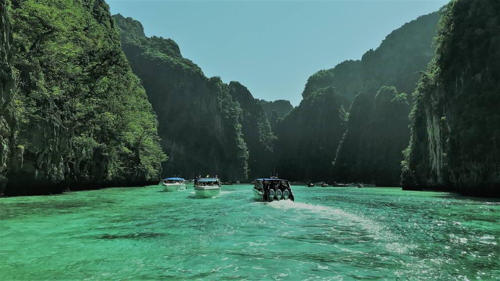 ferry to phi phi island krabi thailand