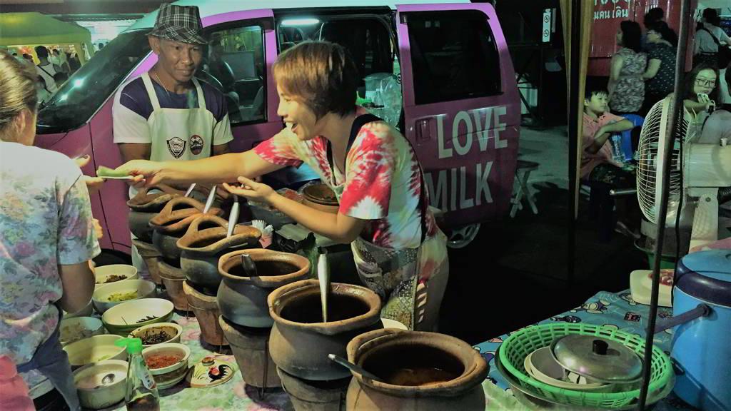 moped rental ao nang krabi thailand night market
