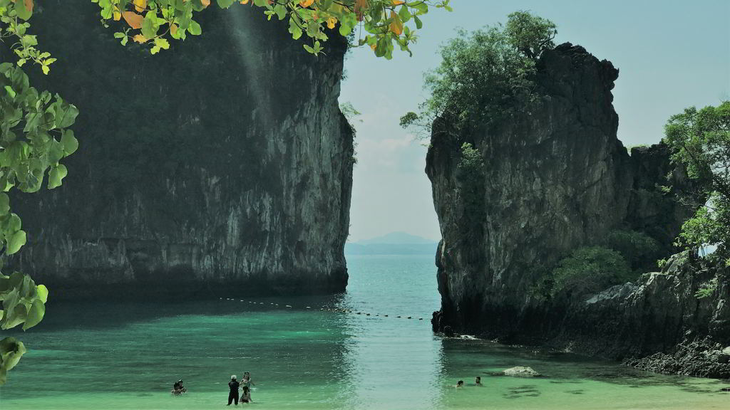 hong island from krabi thailand