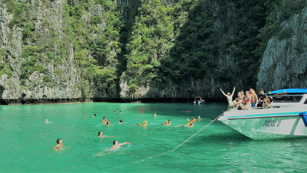 how to get phi phi islands from ao nang krabi thailand
