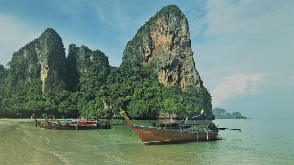 railay beach ao nang krabi thailand