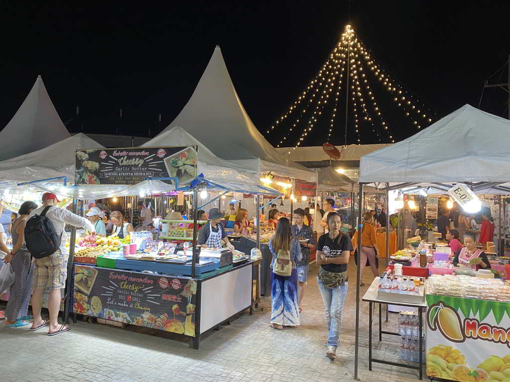 night market in aonang krabi